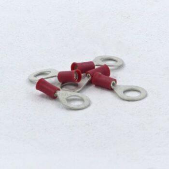 Ringstekker rood 6.4mm 100 stuks DL.GR018072.D