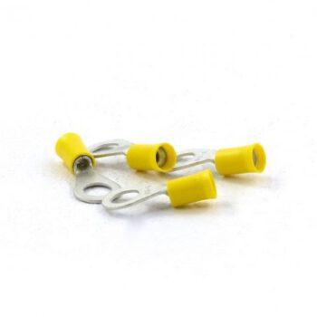 Ringstekker geel  6.4mm 100 stuks DL.GR018074.D