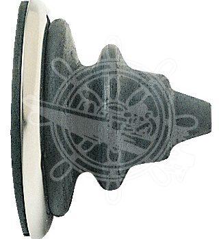 Doorvoerrubber-kabeldoorvoer met rvs ring zwart OSC.03.410.0