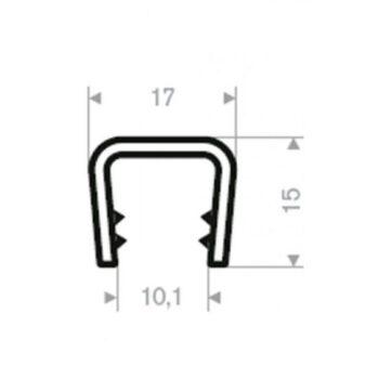 Zelfklemmend u profiel 10-12mm DG2005012 E