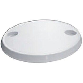 Tafelblad rond wit 610mm met 2bekerhouders MD-D