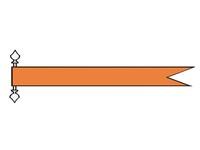 Talamex oranje wimpel