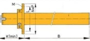 Bronzen schroefas koker ø30mm 1meter VE.BL30-1000.A