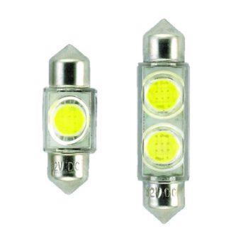"""Led buislamp met 2SMD LED""""s 12volt 42mm  AAA.E"""