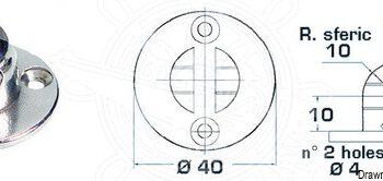 Gasveersteun rond met vork OSC.38.013.68.C