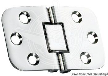 RVS tafelbladscharnier 68x42mm  OSC38.460.79.C