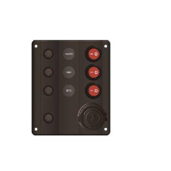 Schakelpaneel 3voudig met USB lader IP65   AAA.E