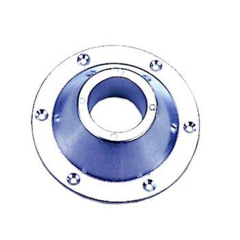 Opbouwflens aluminium voor tafel-stoelpoot rvs AAA.54017.B