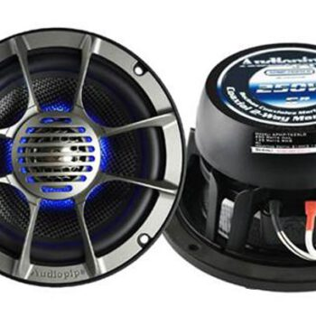 "Audiopipe 6"" 250Watt Carbon 2-weg speaker met LED"