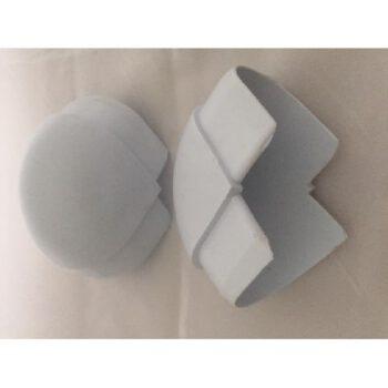 Buitenhoek wit voor P profiel 2stuks DE.1048.F.D.