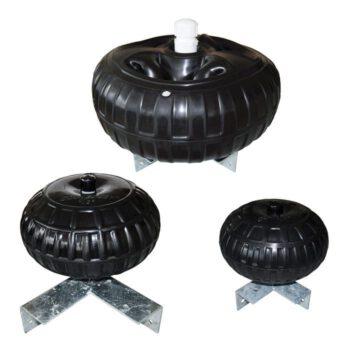 Dockwheel met montagebeugel zwart 30x15cm   DE.95-088-F-B