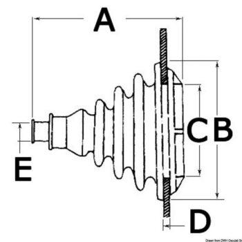 Doorvoerrubber-kabeldoorvoer grijs OSC.03.413.01.C