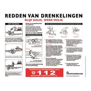 Drenkelingenbord 390x300mm Nederlands  HO.B