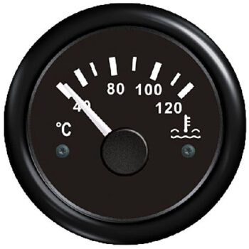 FES Marine temperatuurmeter 40-120graden zwart 12volt  FS.F