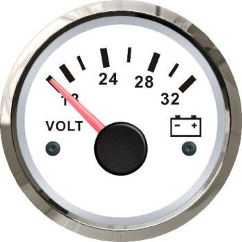 FES Marine voltmeter 24volt wit-rvs  SF-D