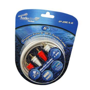 "Audiopipe 6"" 2-kanaals RCA marine kabel"