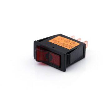 Inbouw tuimelschakelaar met rode knop RI.E89NR-10.F.
