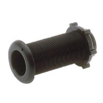 Lenspijpje met moer  zwart diameter 22mm LAL.43491.D.