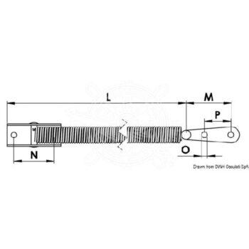 Luikveer- luikuitzetter rvs 260mm OSC.38.421.66.C