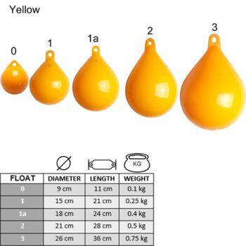 Markeringsboei-ankerbal 21cm geel LT.79.142.221.A