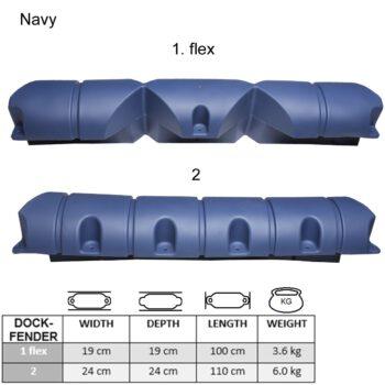 Dockfender nr2 110x24x24cm navy blue  LT-B