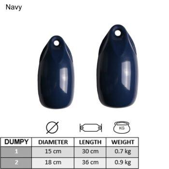 Dumpy fender 15x30cm navy-donkerblauw LT.7913315.A.