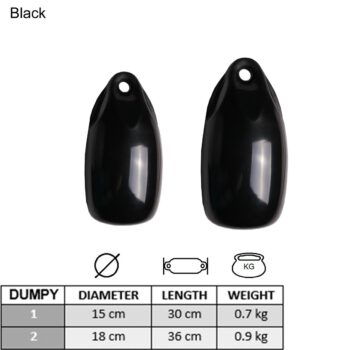 Dumpy fender zwart 18x36cm LT79.113.225.A