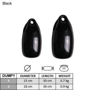 Dumpy fender zwart 15x30cm LT79.113.215.A