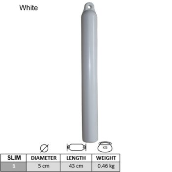 Slimfender wit 5x43cm      LT.B