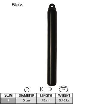 Slimfender zwart 53x3cm  LT.B