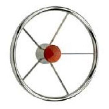 Stuurwiel 5 spaaks rvs diameter 38cm osc 45.165.37.C