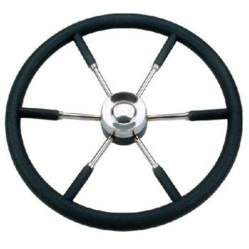 Stuurwiel 55cm RVS-Polyurethaan zwart SV.E