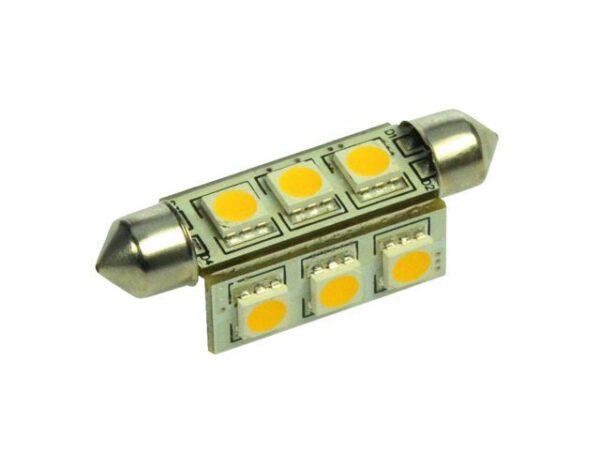 Led buislamp42mm met 9SMD Leds 10-30Volt   LT.B