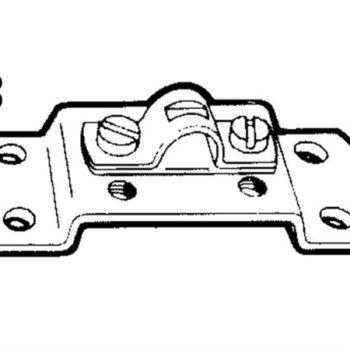 Kabelklem c2 en 33c met voetplaat