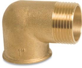 Messing knie- bocht binnen x buitendraad 1 1/2'' BO.0710298.