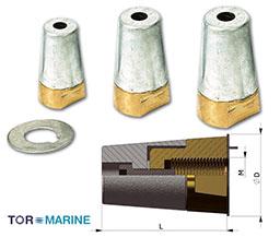 Dopmoer met anode voor 35mm schroefas EX.OES-35-20P1.5.B
