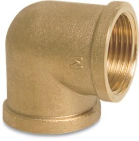 Messing knie-bocht 2x binnendraad 1/4'' BO.0710284.D