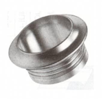Ring voor pushlock kunststof verchroomd