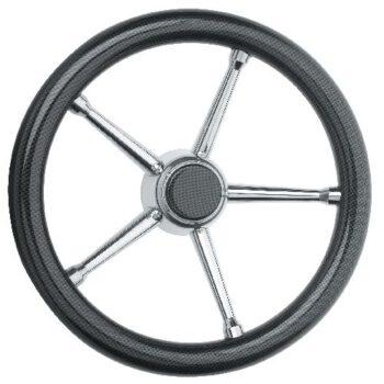 Stuurwiel 35cm carbonfiber met RVS spaken  SV-E